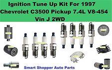 Ignition Tune Up Kit For 97 Chevrolet C3500 Pickup 7.4L V8 Spark Plug Filter rot