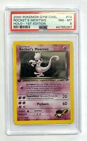 Rocket's Mewtwo Holo Pokemon Card 1st Edition Gym Challenge 14/132 PSA 8 NM-Mint