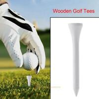 20pcs/set Wooden Golf Tees Golf Solid wood Tees Golf Accessories Golf Ball Nails