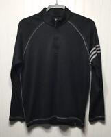 ADIDAS GOLF Men's Small 1/4 Zip Pullover Sweatshirt Black/Gray Polyester