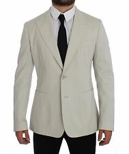 NWT $1700 DOLCE & GABBANA White Cotton Stretch Blazer Jacket Coat IT44 /US34 /XS