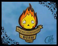Studio Ghibli metal & enamel Pin Badge Pins Howl's Moving Castle with Calcifer