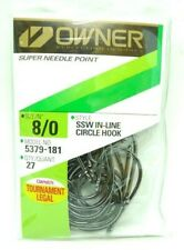 OWNER HOOKS SSW ALL PURPOSE BAIT BLACK SUPER NEEDLE POINT 5315-171 SIZE 7 QTY 17