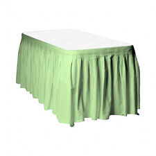 Touch of Color Easy Stick Plastic Table Skirt, 14-Feet, Mint green - sea glass