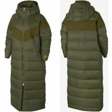NEW Nike NSW Down Fill Long Parka Coat OLIVE GREEN Women Jacket AH8694-395 S M L