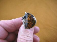 (PR-6.75-1) GREEN AMBER Poland .925 Sterling SILVER RING Jewelry gem size 6.75