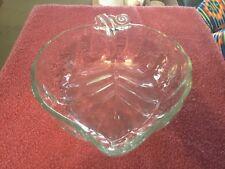 Glass Leaf Shaped Bowl