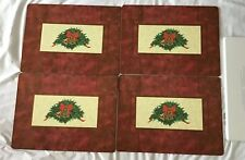 """Pimpernel """"Holly Celebration"""" Christmas Placemats 16"""" x 12"""", Set of 4"""