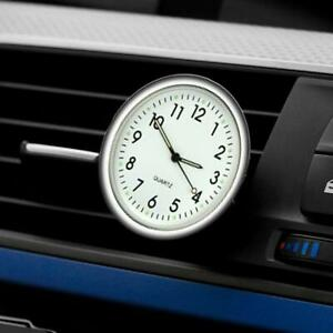 Pocket Small Mini Luminous Quartz Analog Watch Stick-On For Car Boat Clock D4N6