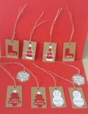 10 Vintage style Christmas gift tags