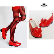 MSD 1/4 BJD Shoes Dollfie DREAM Lolita Christmas red Shoes MID DOD AOD LUTS SOOM