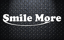 Smile More Car Window Decal