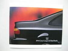 Honda Civic Coupe Hatchback prestige Prospekt brochure English text 28pages 1994