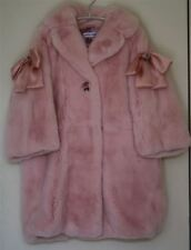 DOLCE & GABBANA GIRLS PINK FUR COAT 4 YEARS