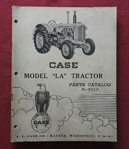 "ORIGINAL 1952 CASE ""MODEL LA TRACTOR"" PARTS CATALOG MANUAL VERY GOOD 170+ pages"