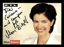 Maxi Biewer RTL Autogrammkarte Original Signiert # BC 86800