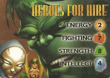 OVERPOWER Heroes for Hire Classic Hero - Marvel - Very Rare