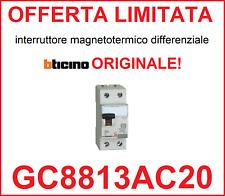 Interruttore magnetotermico differenziale salvavita BTICINO ORIGINALE GC8813AC20