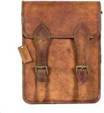 Real satchel bag genuine laptop briefcase Vintage Leather Ruugged messenger