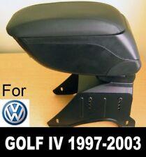 Bracciolo Portaoggetti Pelle Nero Specifico per VW Golf mk4 Bora