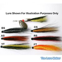 Bucktail Bodies, X 5, 6 Salmon Patterns For Bullet Head Flying Cs  60mm or 80mm