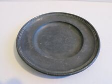 18th? pewter small plate marked