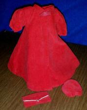 # 939 Barbie Original 1962 Vtg Red Flare Velvet Swing Coat Pillbox Hat & Clutch