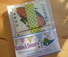 Papier bunting: vintage fruits et légumes semences paquets
