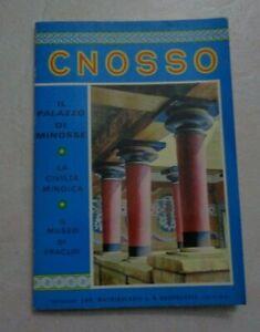 CNOSSO IL PALAZZO DI MINOSSE LA CIVILTA MINOICA E IL MUSEO ERACLIO 1980