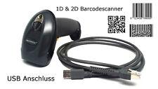 Barcodescanner Symbol DS4208 schwarz USB gebraucht 1D 2D Matrixcode QR Code