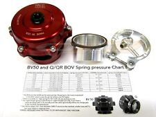 Tial Q Blow Off Valve BOV 50MM 2 psi Spring Aluminum Flange For Supercharger Red