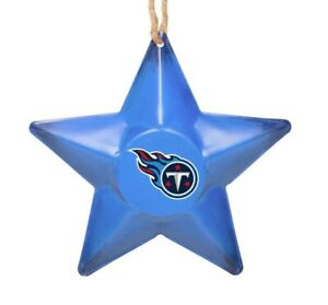 Tennessee Titans Christmas Tree Holiday Ornament New - Team Logo Metal 3D Star