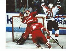 "DAVE POULIN Autographed Signed 8"" x 10"" Photo NHL All-Stars RENDEZ-VOUS '87 COA"