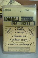 Carburetor Repair Kit T0-7. For 1970-71 Toyotas with Aisan carbs.