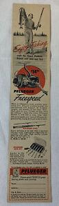 1957 PFLUEGER Rod And Reel ad~ FREESPEED ~ Enjoy Fishing