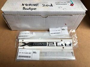 BMW Genuine X DRIVE 20d DOOR BADGE Side Emblem 51143454037 For X1 X3  F25 X4