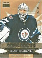 2015-16 UD Showcase SkyBox Premium Prospects /499 Connor Hellebuyck Rookie Jets