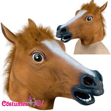 Horse Head Mask Halloween Party Latex Animal Costume Prop Gangnam Style Costume