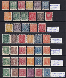 Canada 1928-42 King George V/VI Collection  MH/MNG