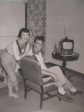 VINTAGE MY BOYFRIEND JOHNNY TV RABBIT EARS DATE NIGHT TLC FABULOUS 50s  PHOTO