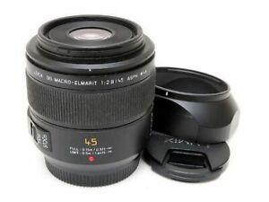 Panasonic Leica DG Macro-Elmarit 45mm F2.8 ASPH. Lens Excellent from Japan F/S