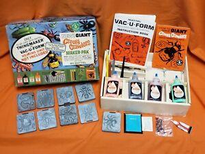 CREEPY CRAWLERS Vintage 1965 Mattel Giant Maker-Pak Near Complete w/ Box Kit Toy