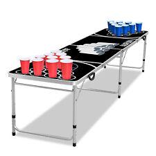 Beer Pong Tisch Set Audio Table 5 Bälle inkl. 100 Becher - 50 Rot & 50 Blau