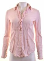 TOMMY HILFIGER Womens Shirt Size 10 Small Pink Striped Cotton  T112