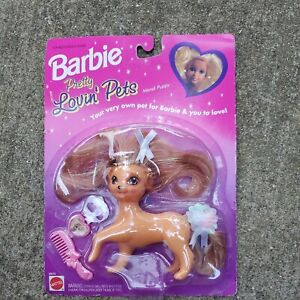 Sealed Barbie Pretty Lovin Pets Mandi Puppy Dog Comb Collar Mattel 1994 Toy