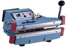 "12"" Manual Operated Double Impulse Hand Sealer 5 mm Heat Seal Plastic Film Bags"