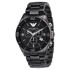 NEW AUTHENTIC EMPORIO ARMANI BLACK CERAMICA CERAMIC CHRONOGRAPH WATCH-AR1421