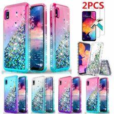 For Samsung Galaxy A10e A20 A50 A51 A71 A01 Glitter Phone Case+Screen Protector