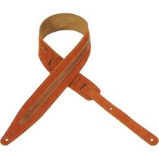 Levy's Leathers MS317BLA-CPR Hand-Brushed Suede Leather Guitar Strap, Copper