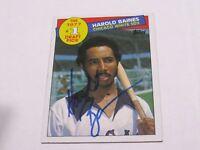 Harold Baines Autographed Baseball Card